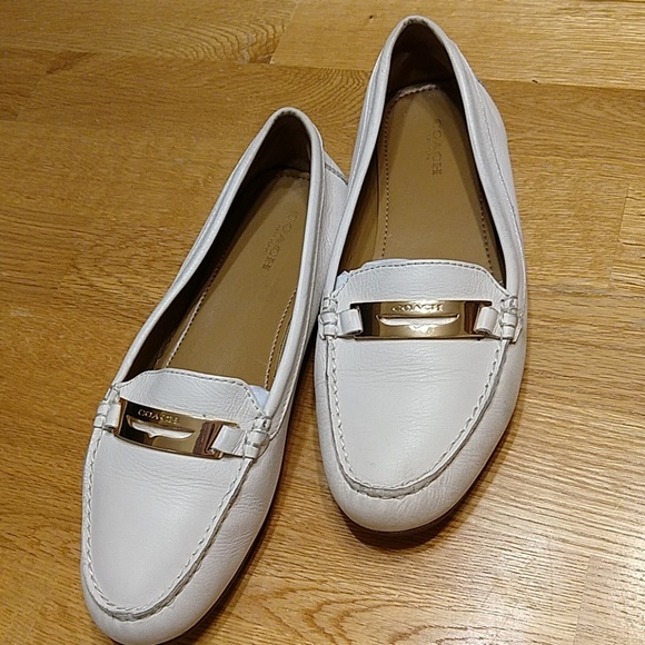 79c791a4c9f Coach Shoes - Coach Olympia Pebble Grain Leather loafers Size 9B